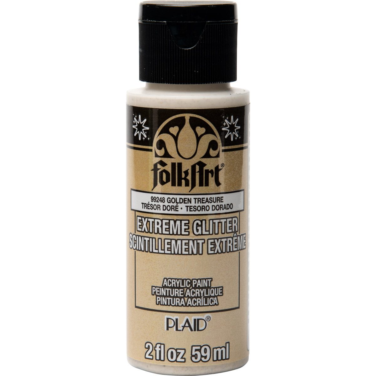 FolkArt ® Extreme Glitter™ - Golden Treasure, 2 oz.
