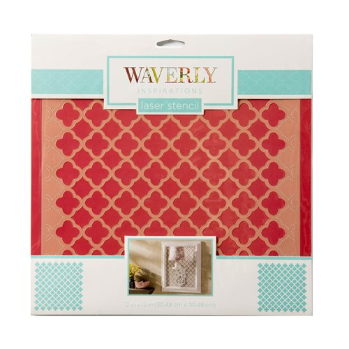 "Waverly ® Inspirations Laser Stencils - Décor - Medallion, 12"" x 12"""