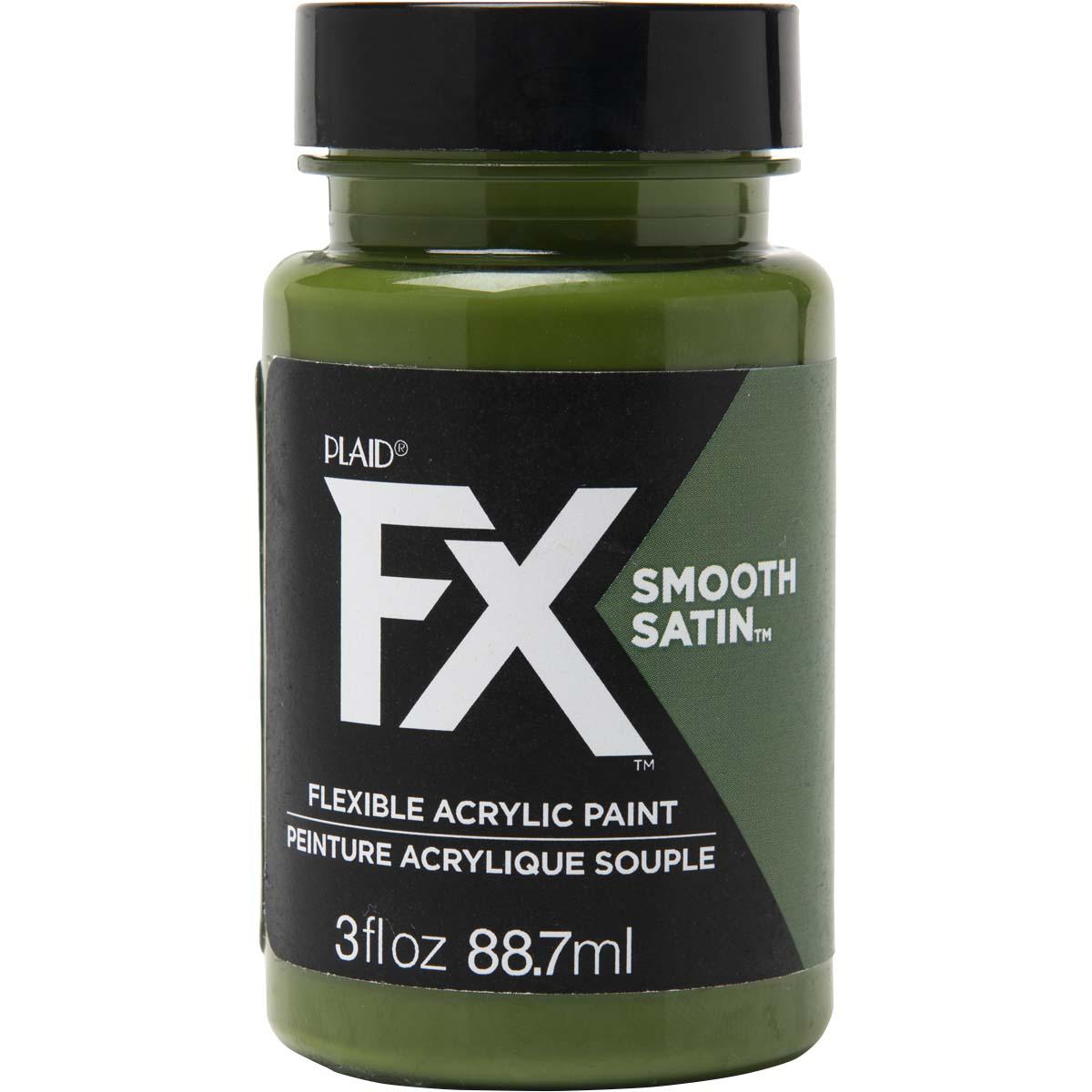 PlaidFX Smooth Satin Flexible Acrylic Paint - Bulletproof, 3 oz. - 36857