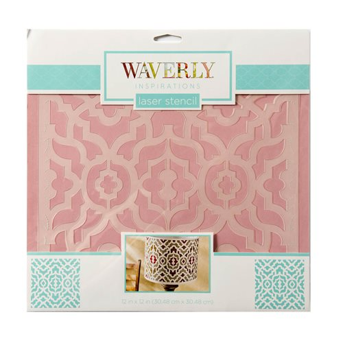 "Waverly ® Inspirations Laser Stencils - Décor - Lattice, 12"" x 12"""