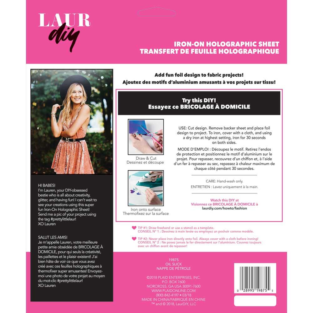 LaurDIY ® Iron-on Holographic Sheet - Oil Slick