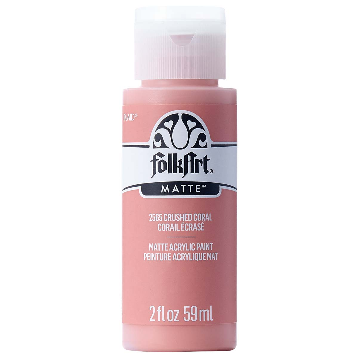 FolkArt ® Acrylic Colors - Crushed Coral, 2 oz.