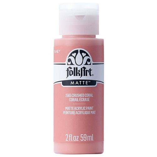 FolkArt ® Acrylic Colors - Crushed Coral, 2 oz. - 2565