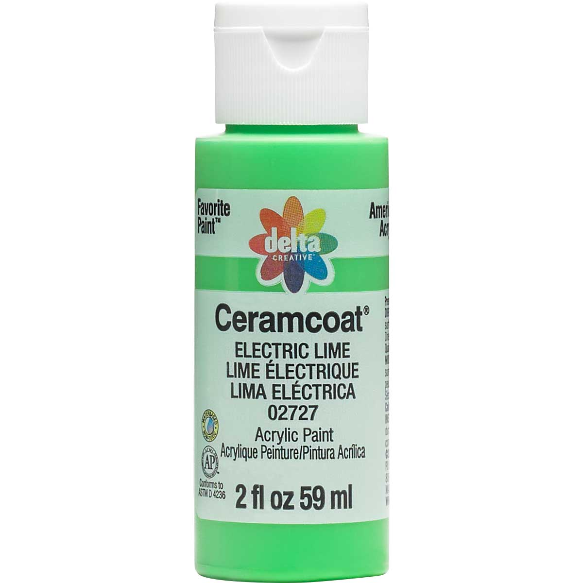 Delta Ceramcoat ® Acrylic Paint - Electric Lime, 2 oz.