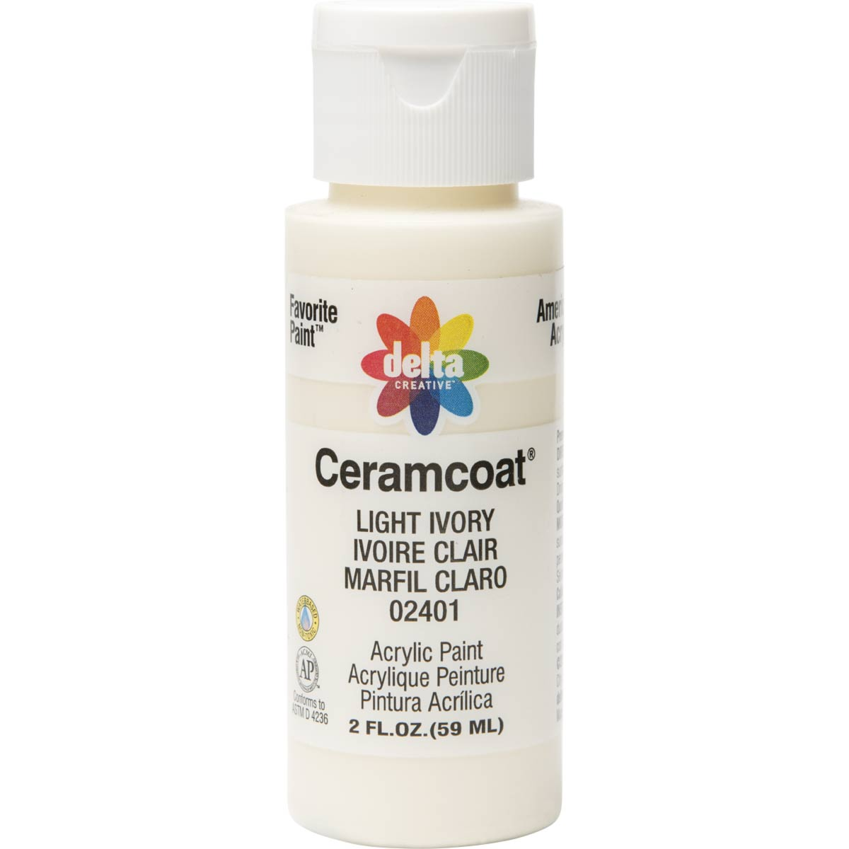 Delta Ceramcoat ® Acrylic Paint - Light Ivory, 2 oz.
