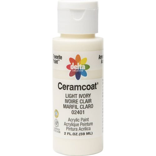 Delta Ceramcoat ® Acrylic Paint - Light Ivory, 2 oz. - 024010202W