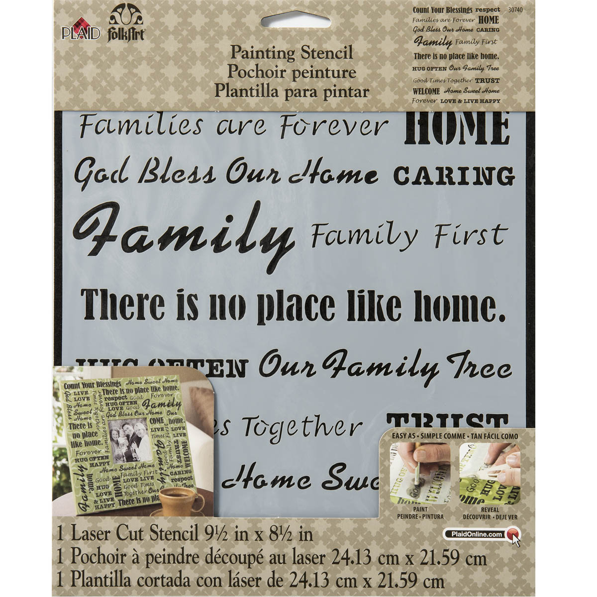 FolkArt ® Painting Stencils - Laser - Words/Phrases - Family