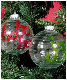 Ho Ho Ho and Joy Christmas Ornaments