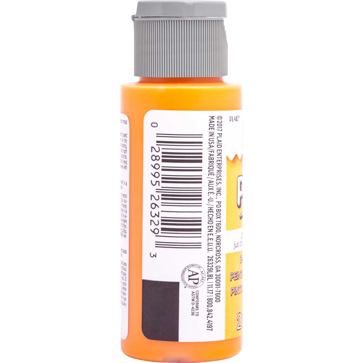 Fabric Creations™ Plush™ 3-D Fabric Paints - Orange Juice, 2 oz.