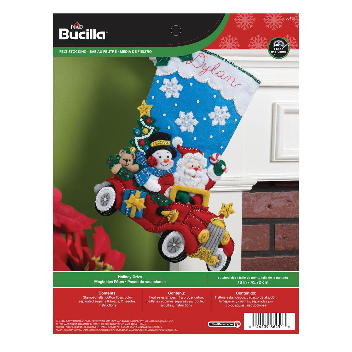 Bucilla ® Seasonal - Felt - Stocking Kits - Holiday Drive - 86451