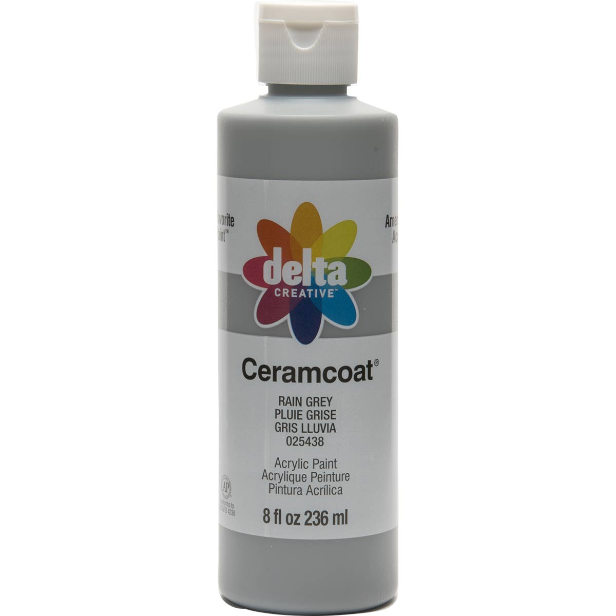 Delta Ceramcoat ® Acrylic Paint - Rain Grey, 8 oz. - 025438