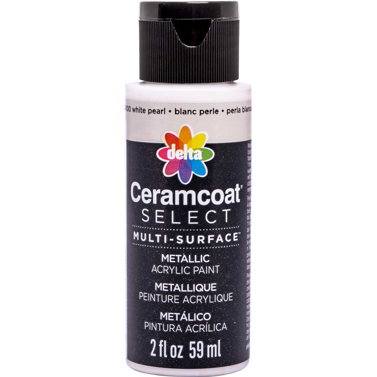 Delta Ceramcoat ® Select Multi-Surface Acrylic Paint - Metallic - White Pearl, 2 oz.