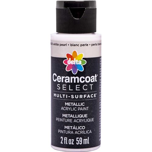 Delta Ceramcoat ® Select Multi-Surface Acrylic Paint - Metallic - White Pearl, 2 oz. - 04100