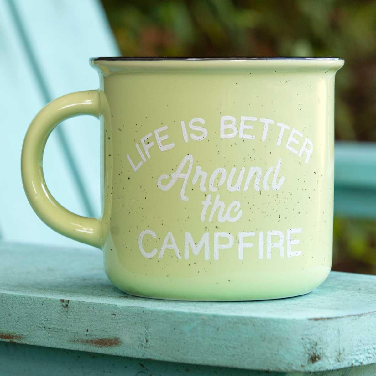 DIY Campfire Craft - Retro Mugs