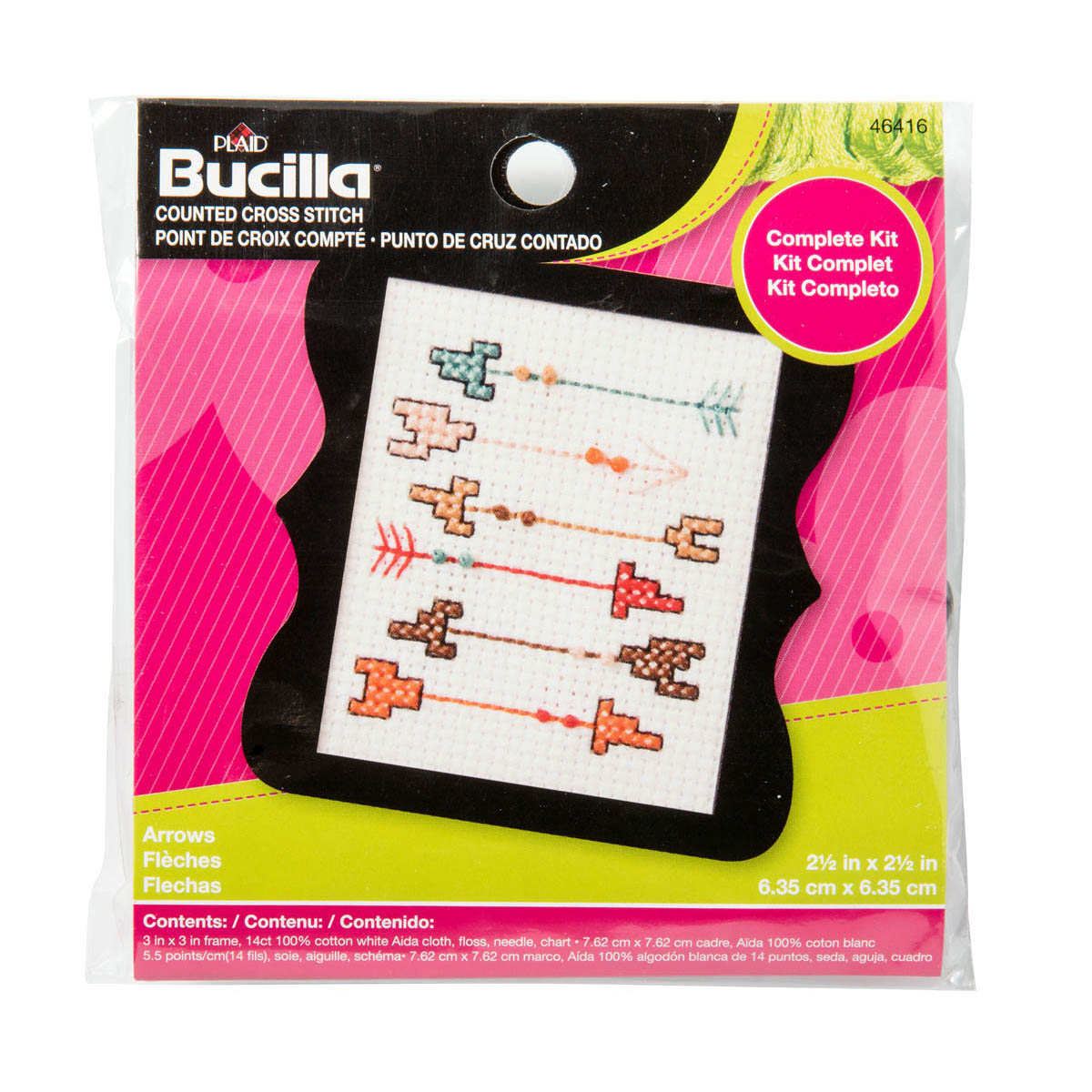Bucilla ® Counted Cross Stitch - Beginner Stitchery - Mini - Arrows