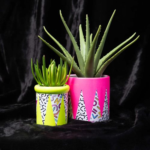 Mod Podge Memphis Blacklight Planters