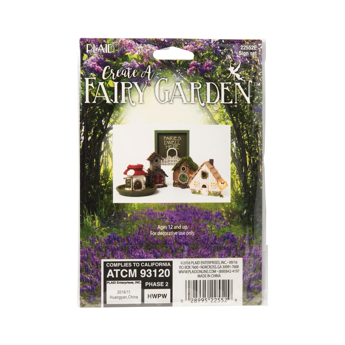 Plaid ® Wood Surfaces - Fairy Garden - Sign 2 pc.