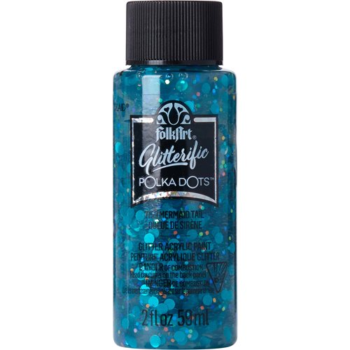 FolkArt ® Glitterific™ Polka Dot Acrylic Paint - Mermaid Tail, 2 oz. - 7159