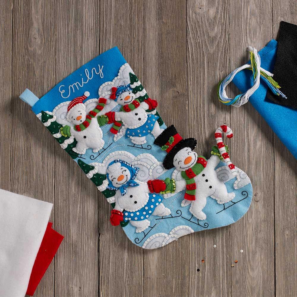 Bucilla ® Seasonal - Felt - Stocking Kits - Snowman Family Outing