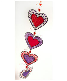 Dancing Hearts Valentine Mobile