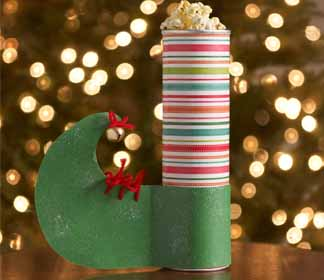 Homemade Elf Holiday Gift Container
