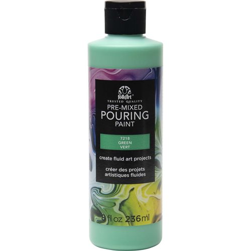 FolkArt ® Pre-mixed Pouring Paint - Green, 8 oz. - 7218