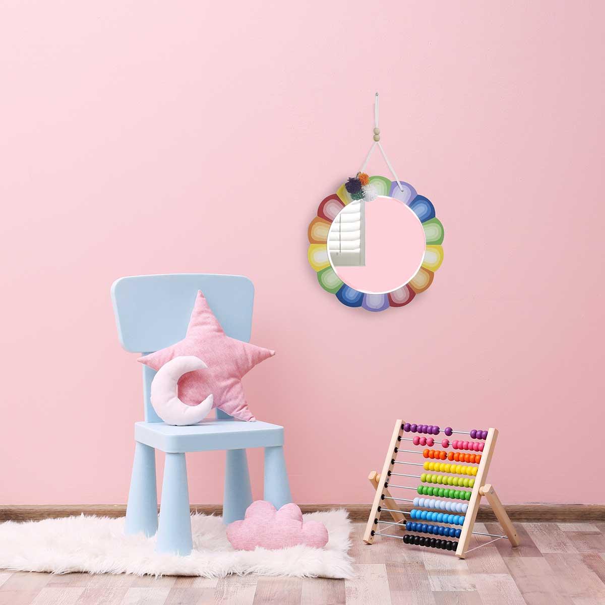 Scalloped Rainbow Mirror