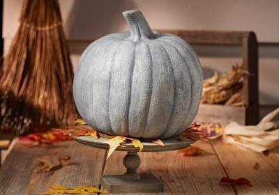 Faux Concrete Pumpkin