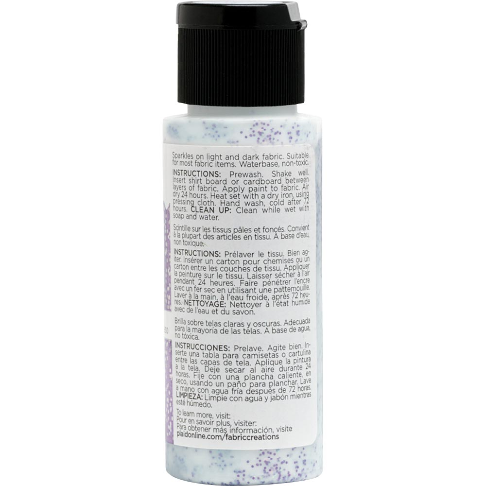 Fabric Creations™ Fantasy Glitter™ Fabric Paint - Pegasus Purple, 2 oz.