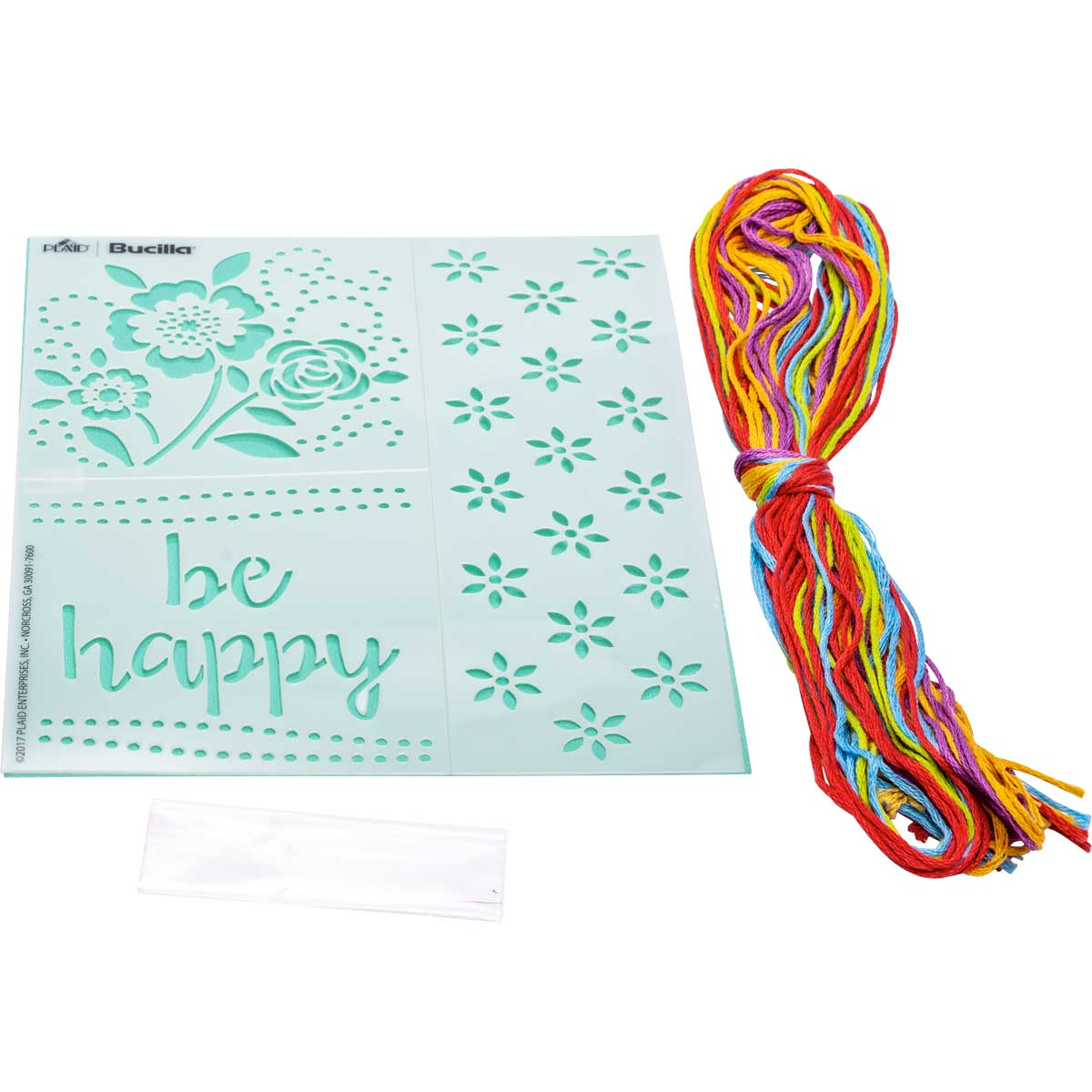Bucilla ® Fashion Embroidery Kit - Be Happy