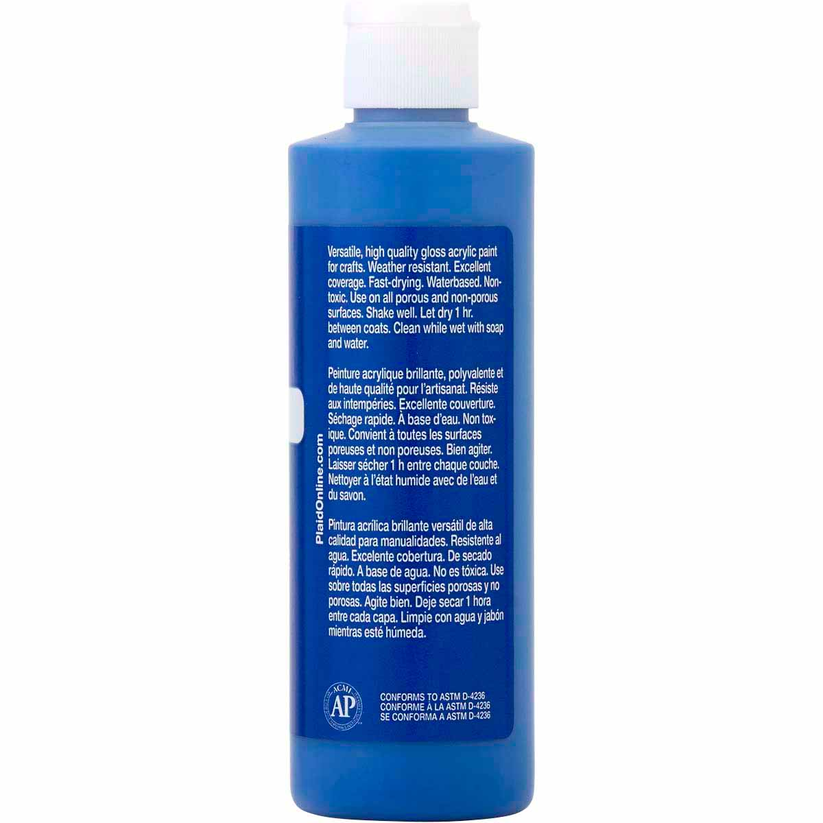 Apple Barrel ® Gloss™ - Real Blue, 8 oz. - 20424