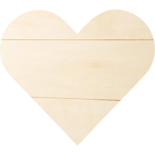 "Plaid ® Wood Surfaces - Plaques - Heart Sign, 11.81"" x 10.59"""