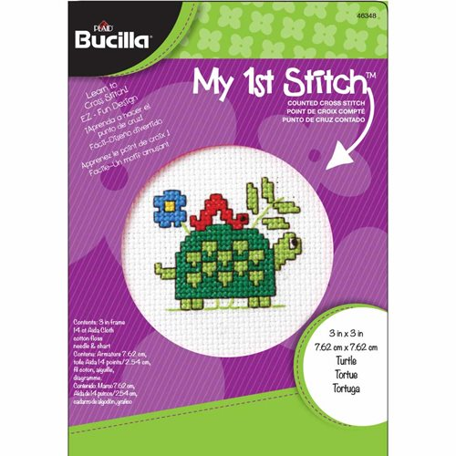 Bucilla ® My 1st Stitch™ - Counted Cross Stitch Kits - Mini - Turtle