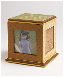 Fall Polka Dotted Photo Cube