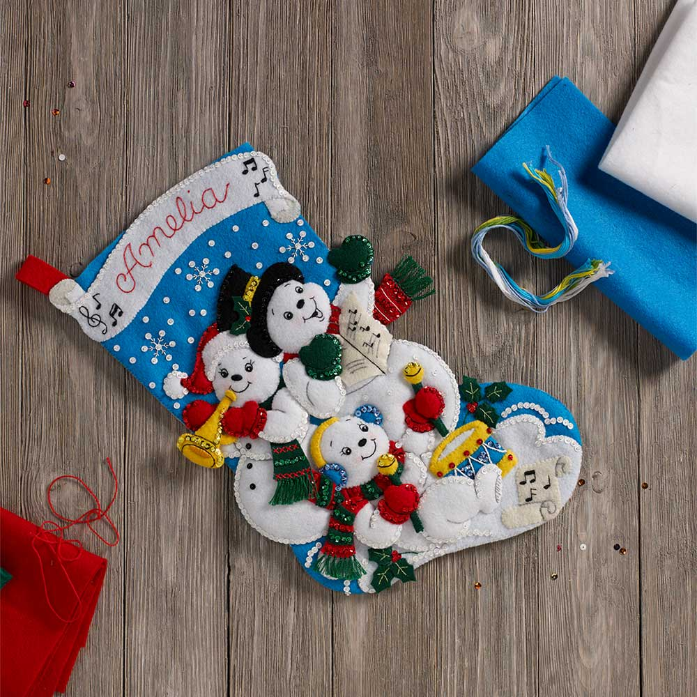 Bucilla ® Seasonal - Felt - Stocking Kits - Snowman Family Band