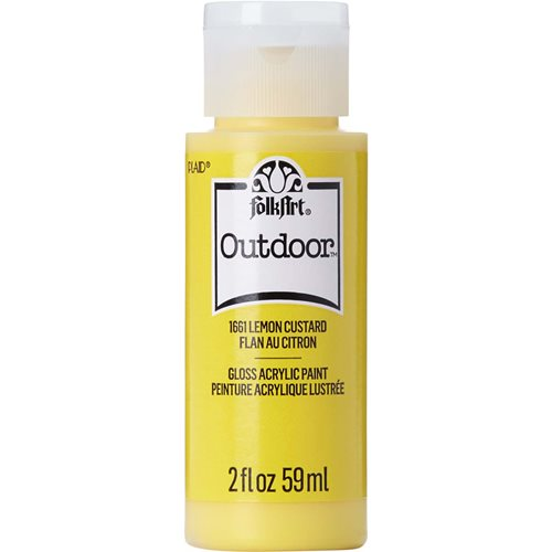 FolkArt ® Outdoor™ Acrylic Colors - Lemon Custard, 2 oz.