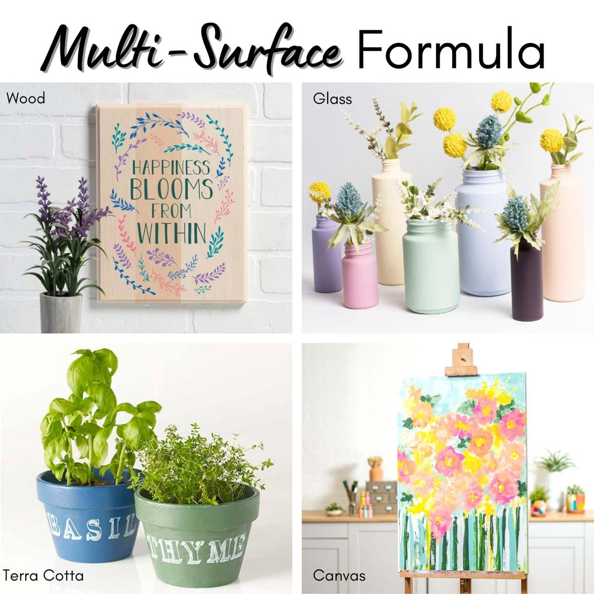 FolkArt ® Multi-Surface Satin Acrylic Paint 10 Color Set - Basics - 7508