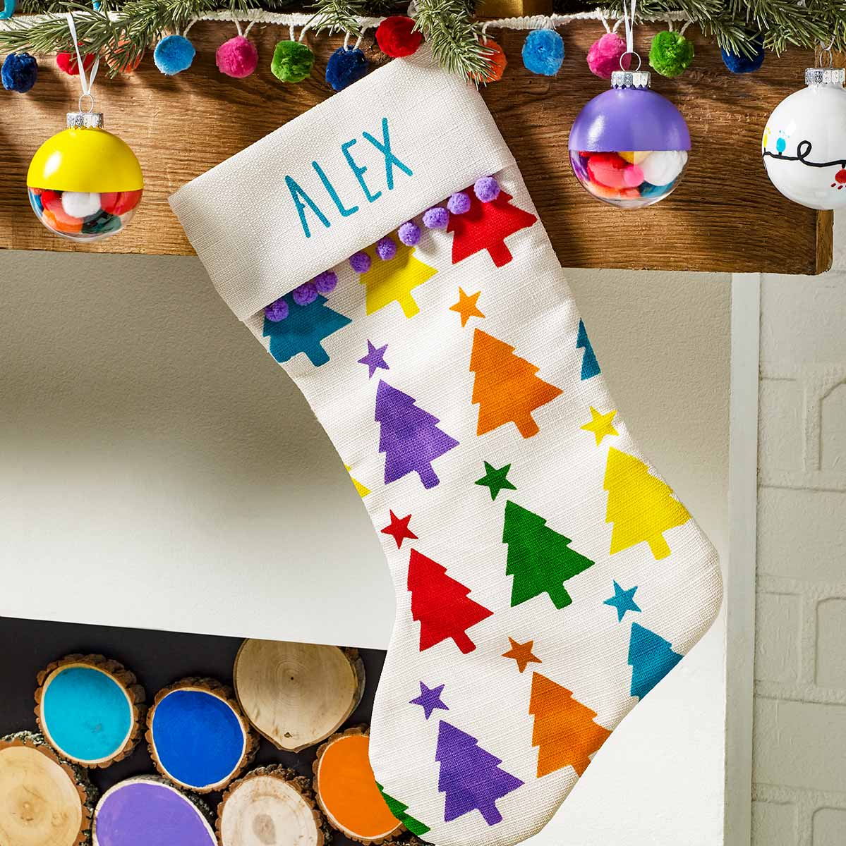 Bright Painted Stocking DIY