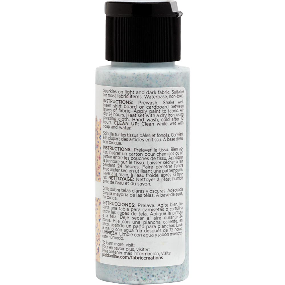 Fabric Creations™ Fantasy Glitter™ Fabric Paint - Cosmos, 2 oz.