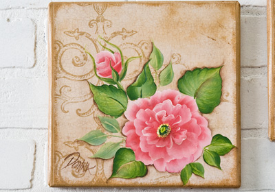 Rose on Canvas I
