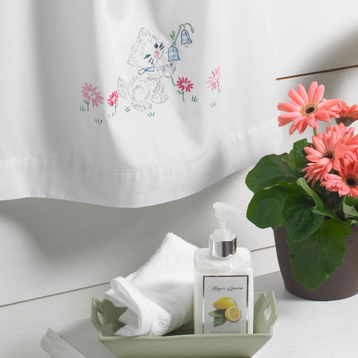 Bucilla ® Stamped Cross Stitch & Embroidery - Pillowcase Dress - Kitten