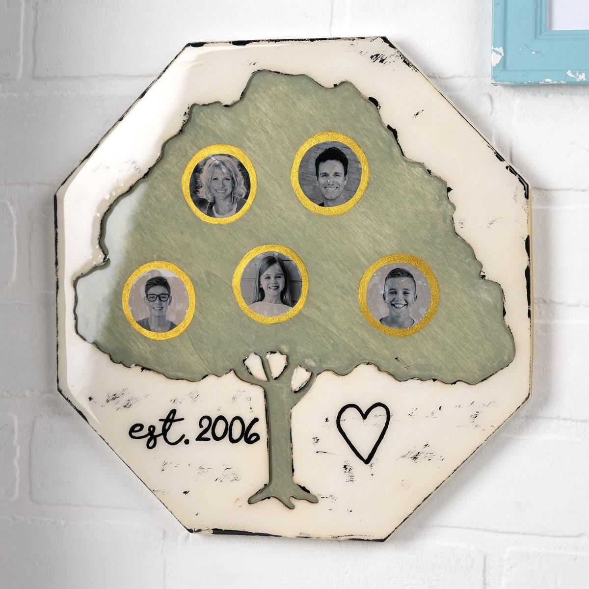 Mod Podge Resin Family Tree