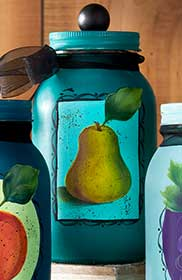 Painted Pear Canning Jar
