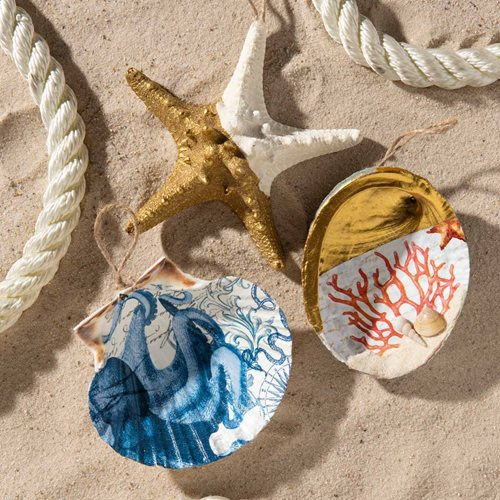 Beachy Ornaments DIY Idea