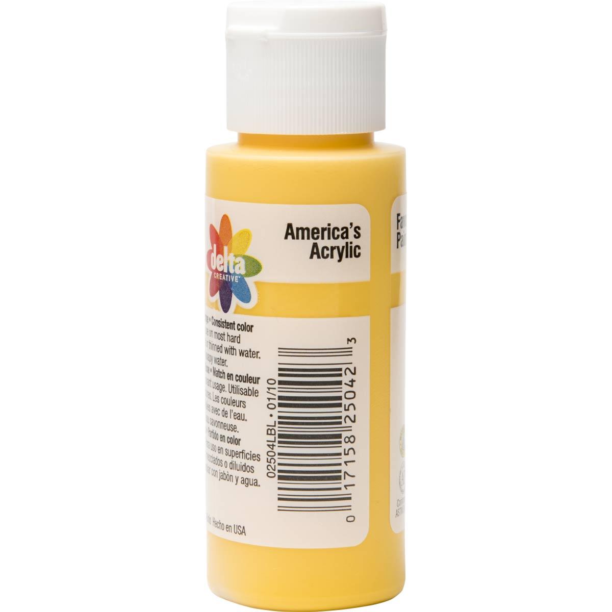 Delta Ceramcoat ® Acrylic Paint - Yellow, 2 oz.