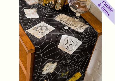 Photo Transfer Halloween Table Runner