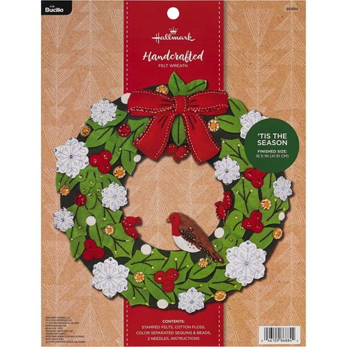 Bucilla ® Seasonal - Felt - Home Decor - Hallmark - 'Tis the Season Wreath