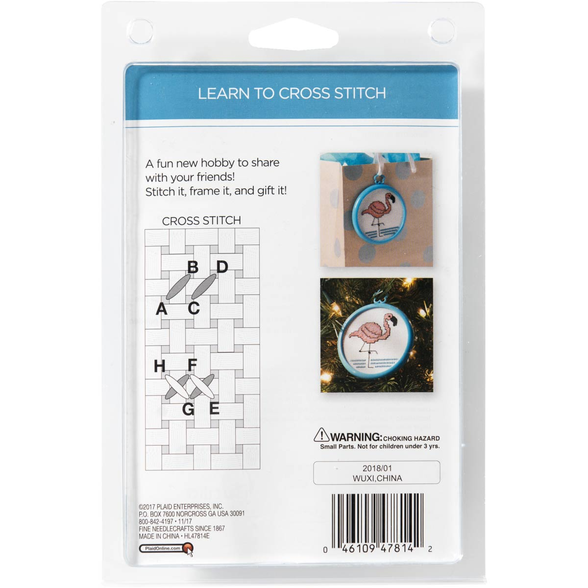 Bucilla ® My 1st Stitch™ - Counted Cross Stitch Kits - Mini - Tropical Flamingo - 47814E