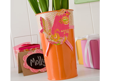 Tin Flower Bucket