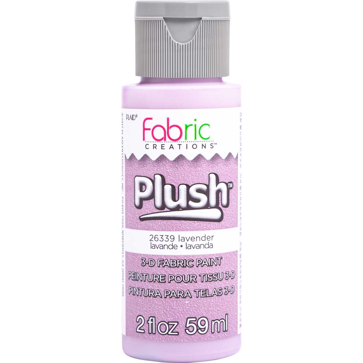 Fabric Creations™ Plush™ 3-D Fabric Paints - Lavender, 2 oz.